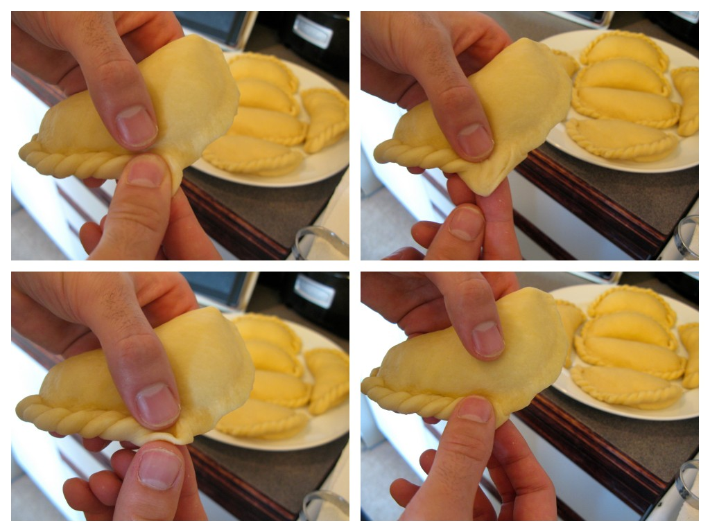 how to close the empanada