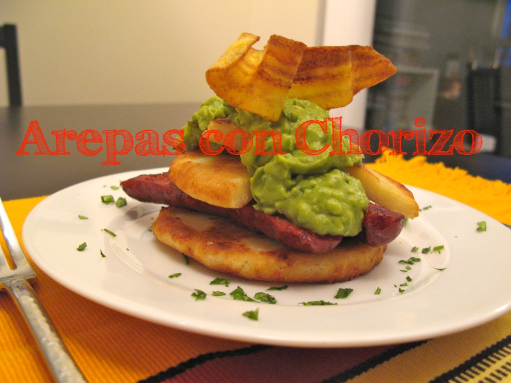 Arepas with Chorizo