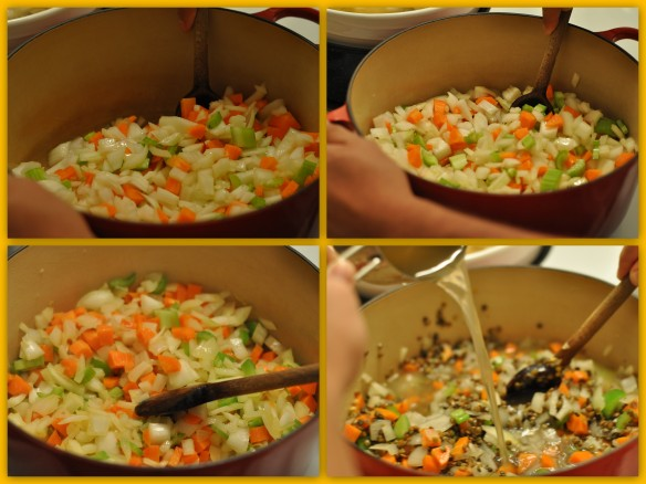 cooking the mirepoix