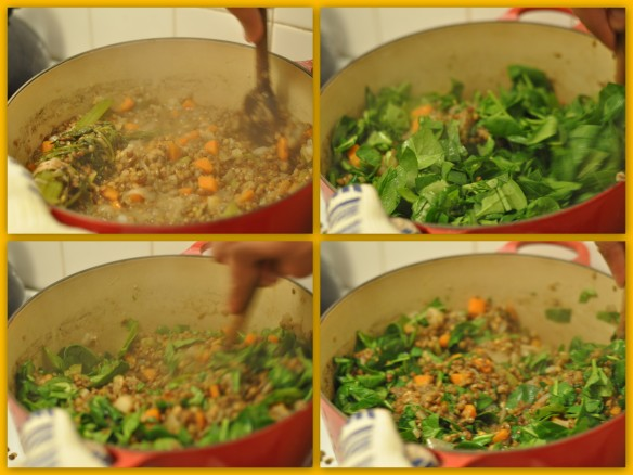 Spinach and Lentils