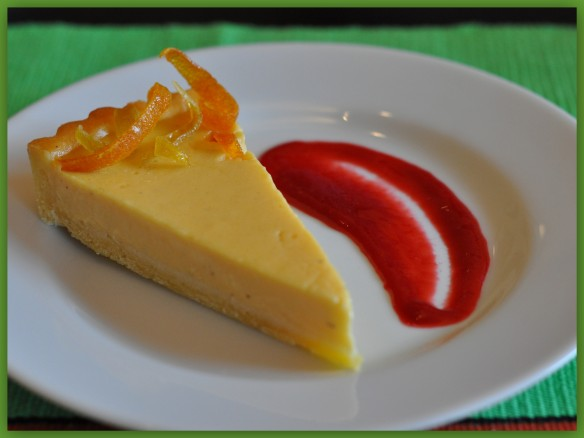 a Slice of Passion fruit tart