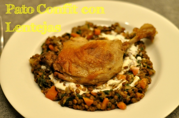 Duck Confit with de Puy Lentils