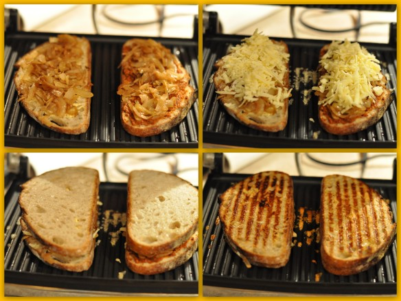 Putting it all together... grown up grilled cheese