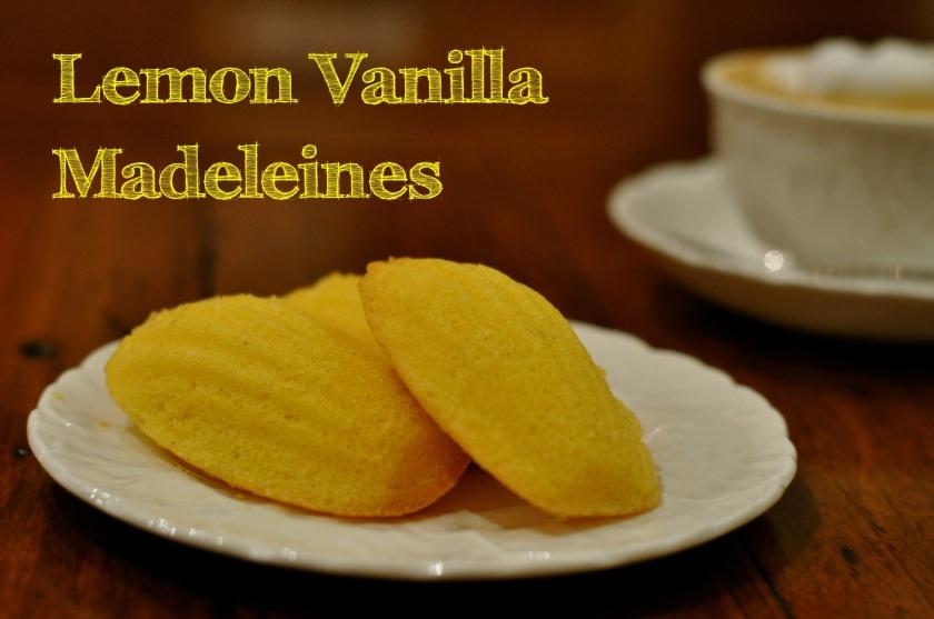 Lemon Vanilla Madeleines
