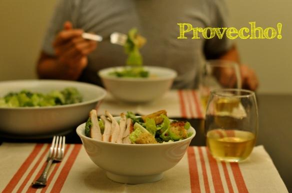 Caesar salad... Provecho!