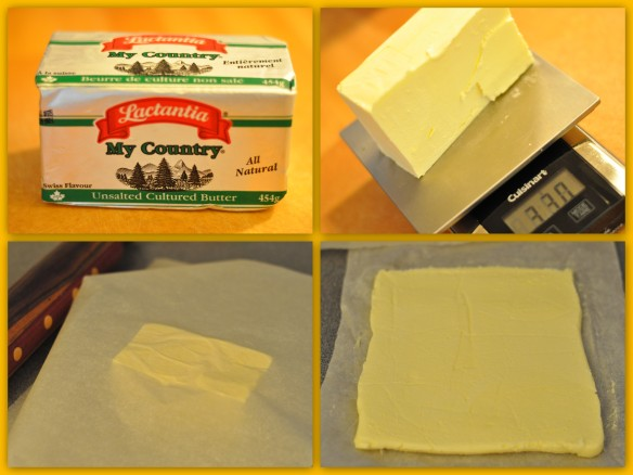Unsalted butter block for croissants