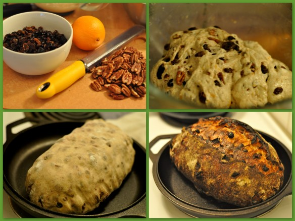 Pecan and fruit bread