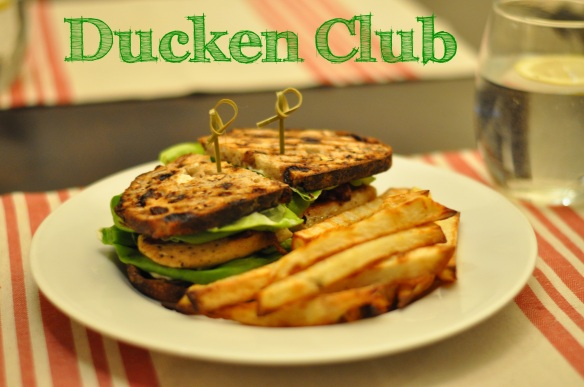 Ducken Club with oven fries