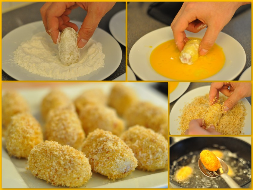 breading and frying