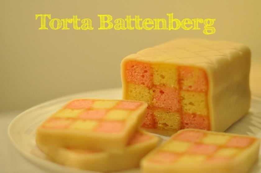 9 square Battenberg cake