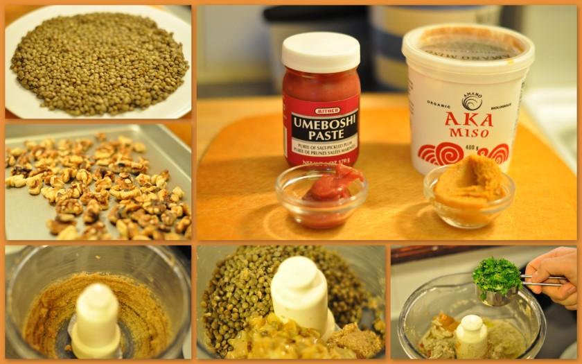 Lentils, Umeboshi plum paste, and Miso